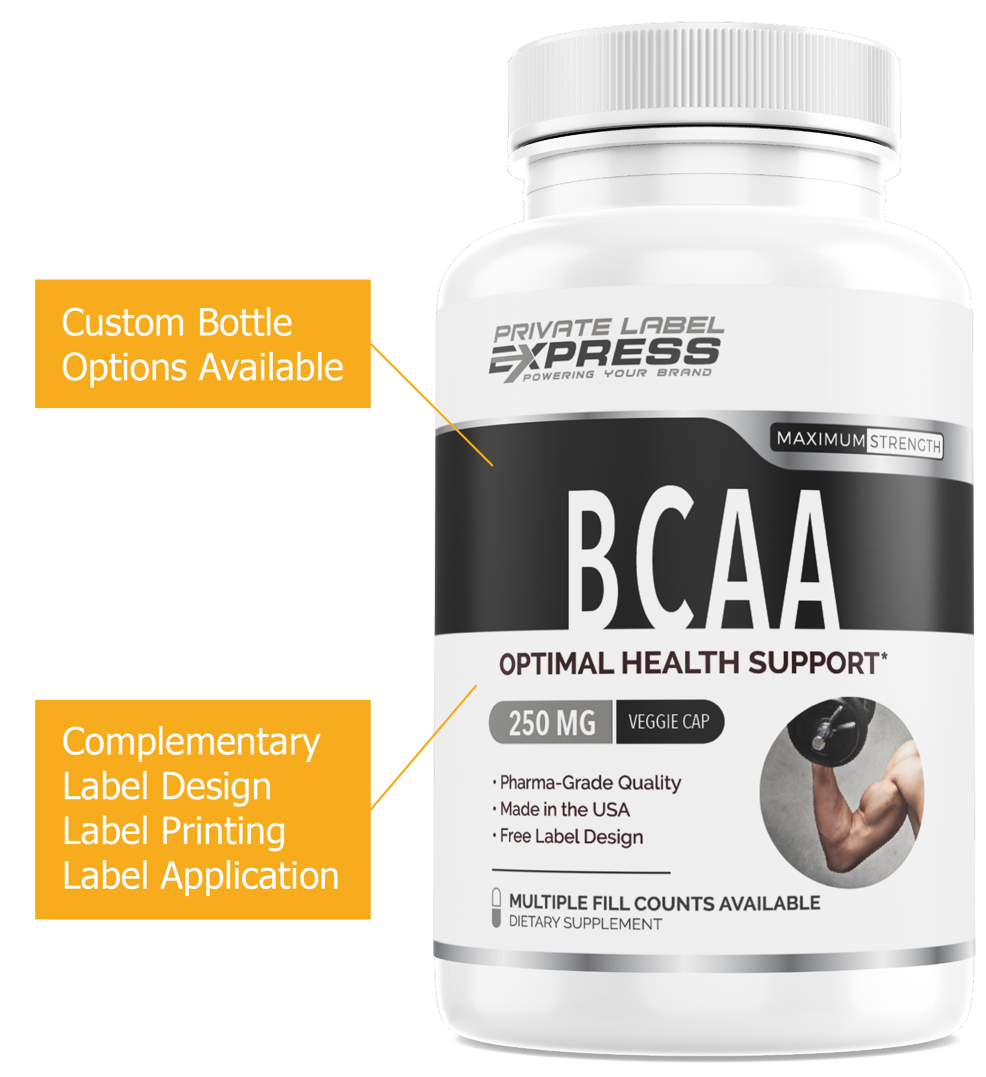 Private Label BCAA Bottle