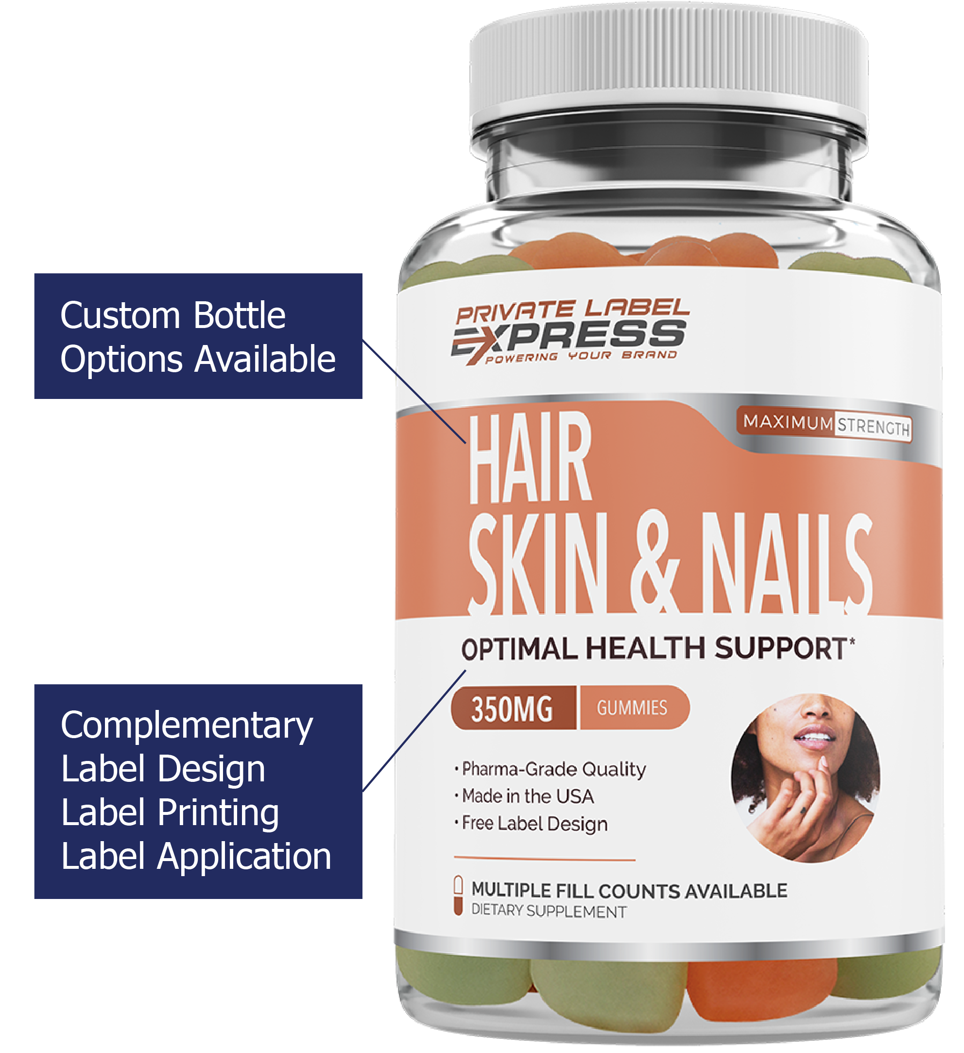 Private Label Hair Skin and Nails Supplements